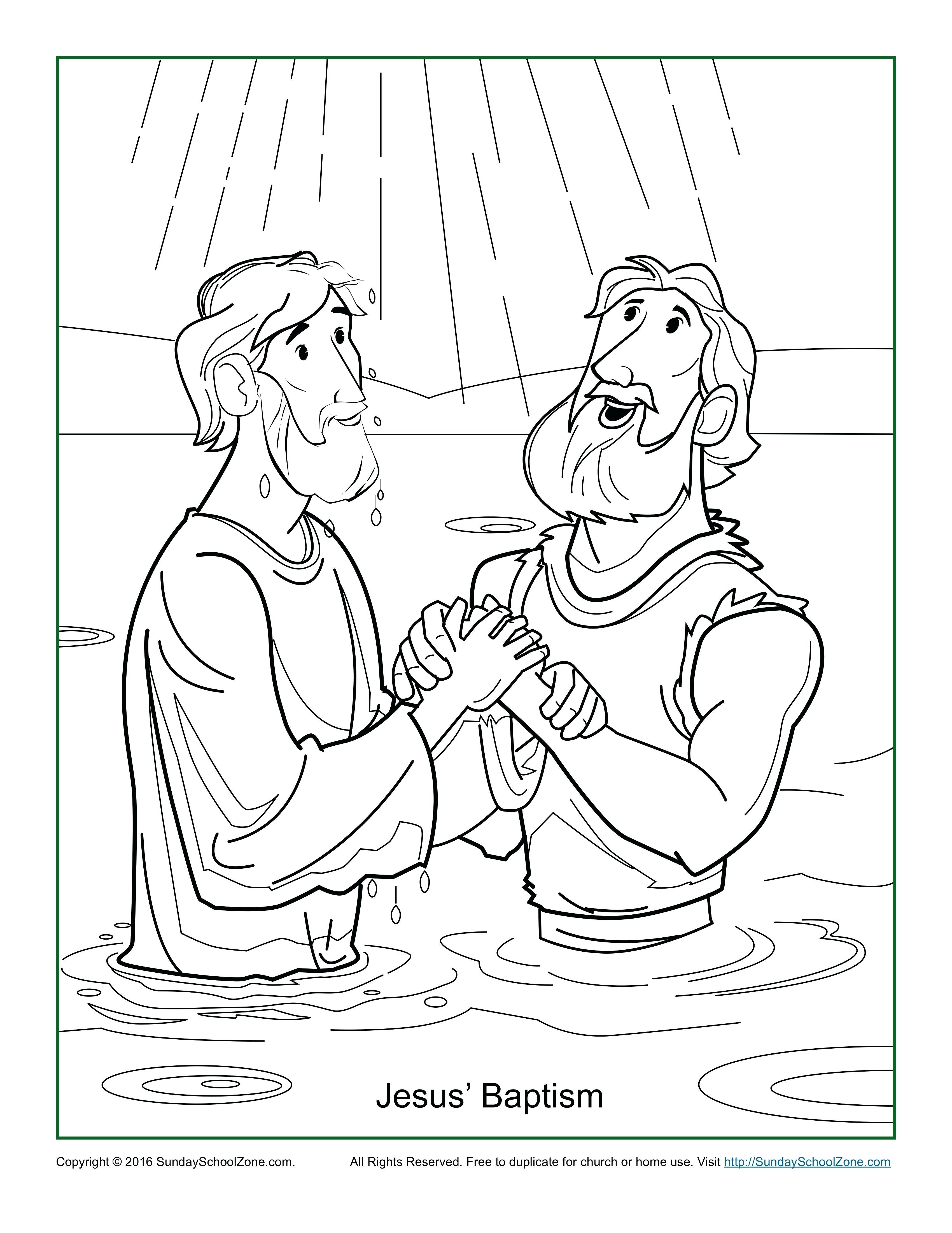 Baptism Coloring Pages Printables  Collection 15m - Free For kids