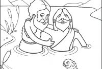 Baptism Coloring Pages Printables - Luxury John the Baptist and Jesus Coloring Pages