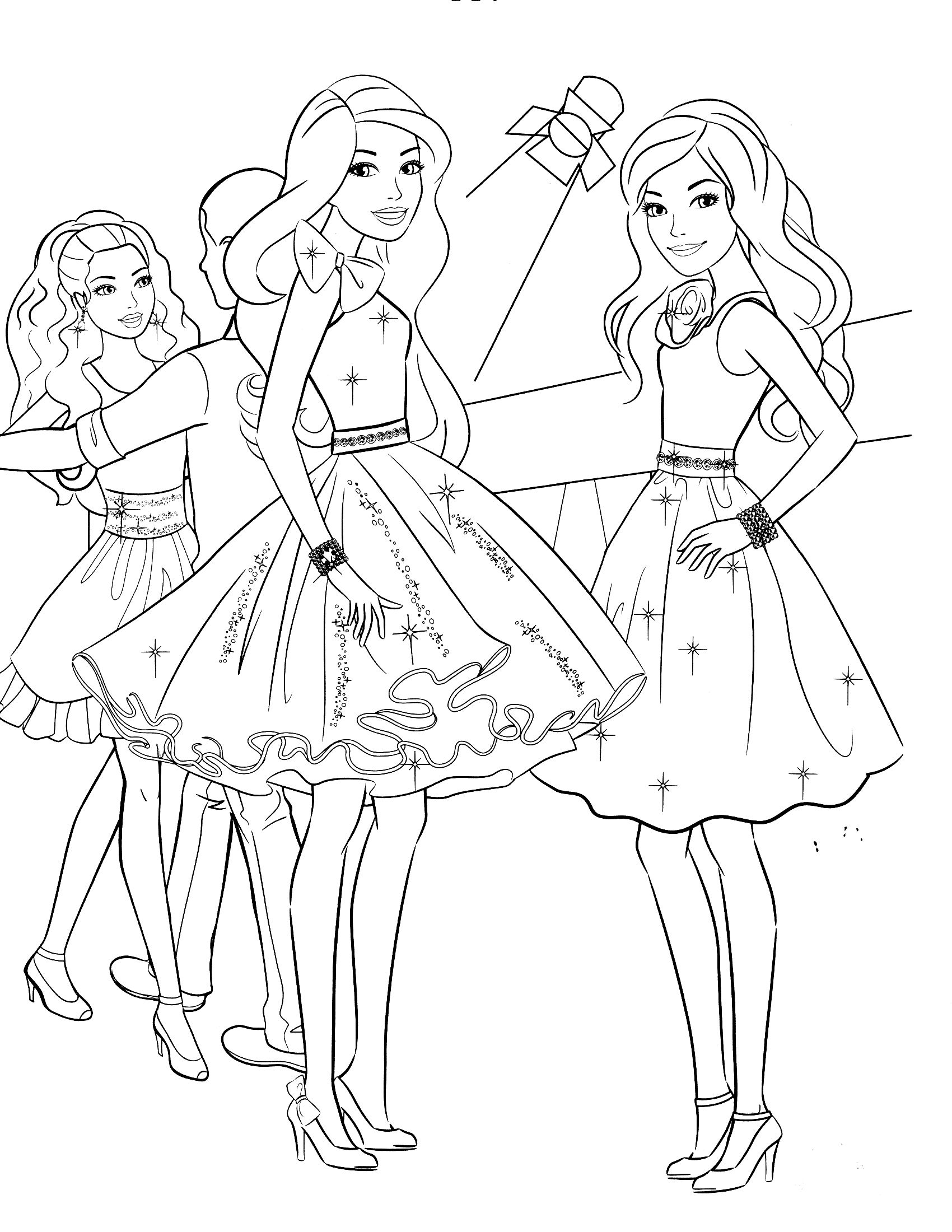 Barbie Coloring Pages Princess Charm School  Gallery 11b - To print for your project