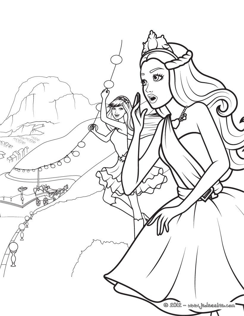 Barbie Coloring Pages Princess Charm School  Gallery 16g - Save it to your computer