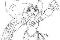 Barbie Superhero Coloring Pages - Free Printable Super Hero High Coloring Page for Wonder Woman More