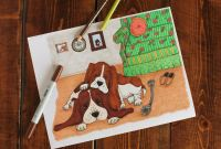 Bassett Hound Coloring Pages - Basset Hound Life Vintage Inspired Dog Coloring Page for Adults