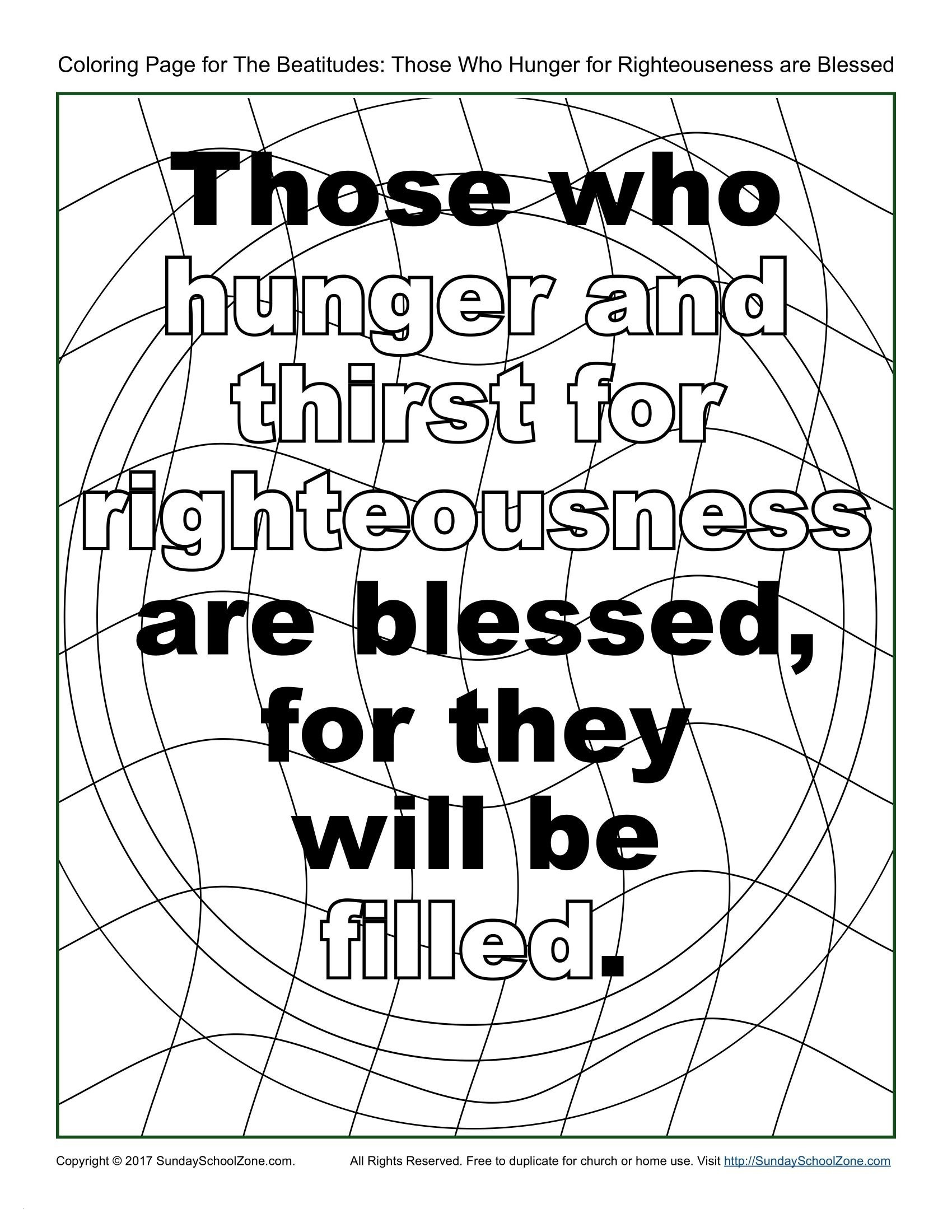 Beatitudes Coloring Pages for Children  Gallery 2c - Free Download