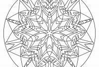 Big Mandala Coloring Pages - Free Printable Mandala Coloring Pages for Stress Relief or as Art