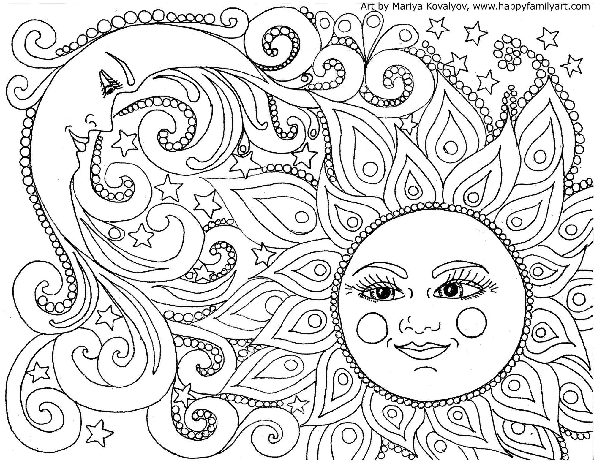 Big Mandala Coloring Pages  to Print 15k - Free For kids