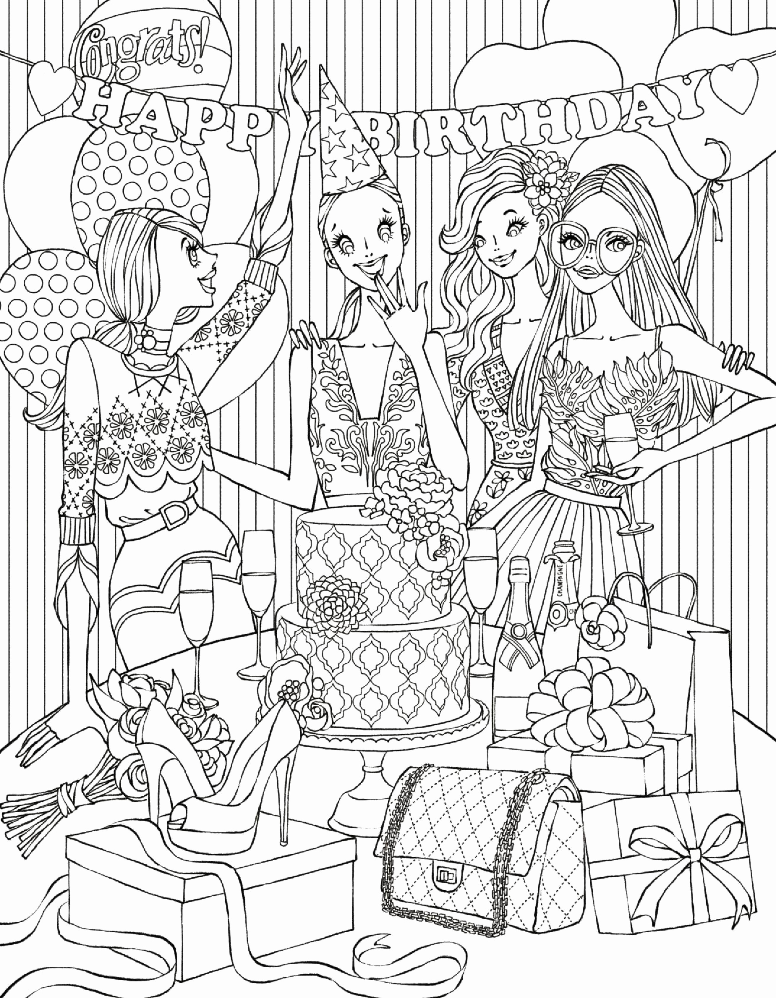 Birthday Coloring Pages  Gallery 14b - To print for your project