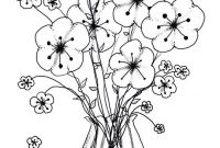Birthday Coloring Pages - Cool Vases Flower Vase Coloring Page Pages Flowers In A top I 0d