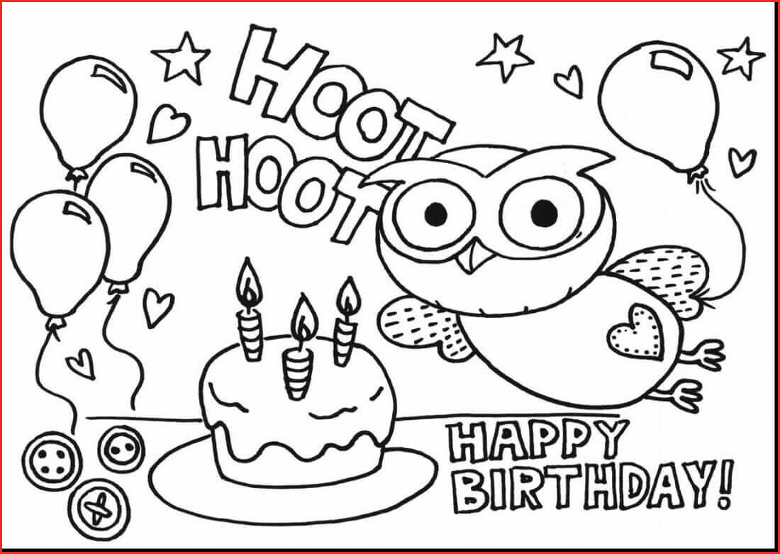 Birthday Coloring Pages Printable  Download 18c - Free For kids