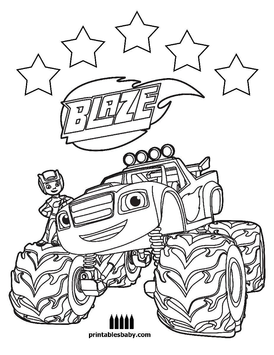 Blaze and the Monster Machine Coloring Pages  Download 6r - Free For kids