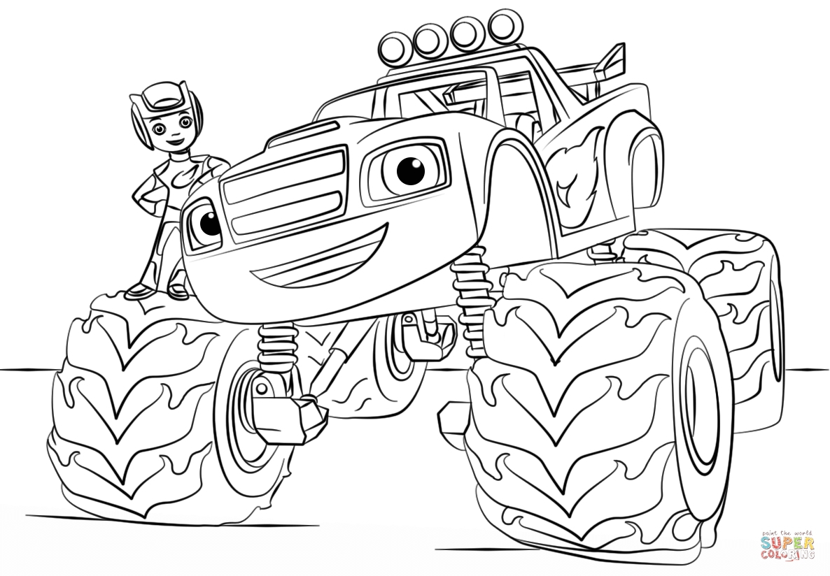 Blaze and the Monster Machine Coloring Pages  Download 17q - To print for your project