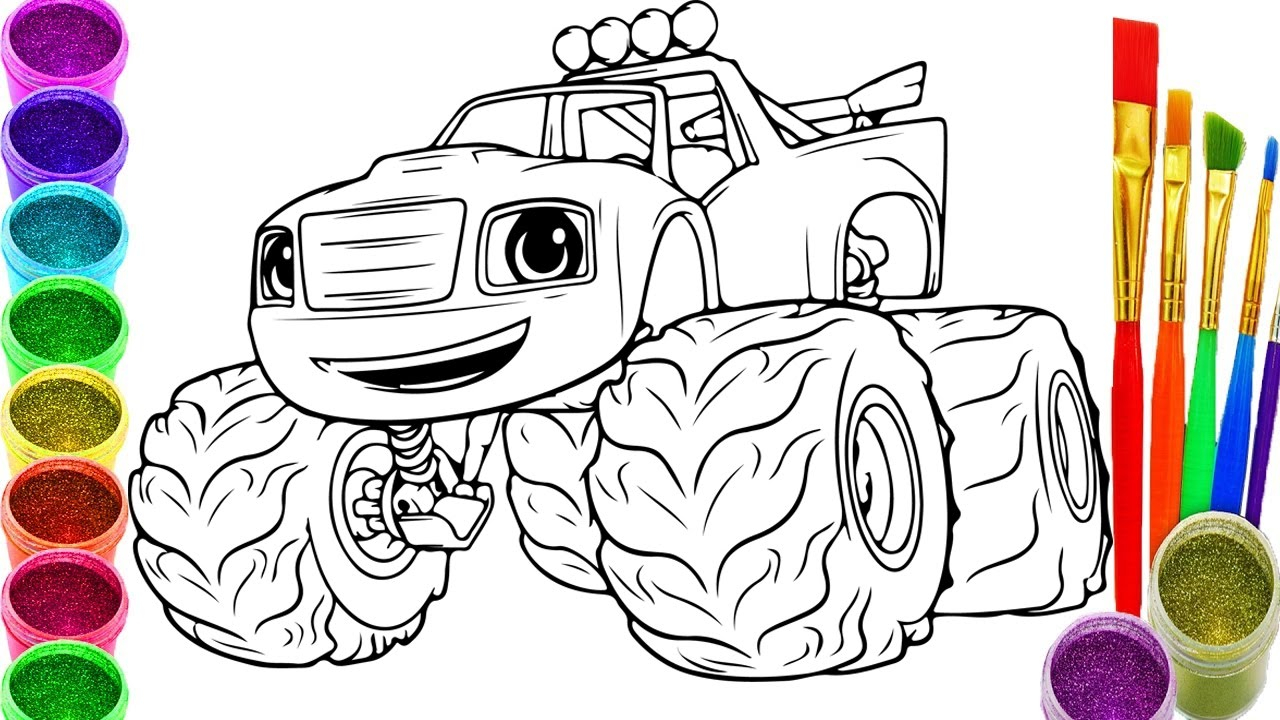 Blaze and the Monster Machine Coloring Pages  Download 10f - Free For kids