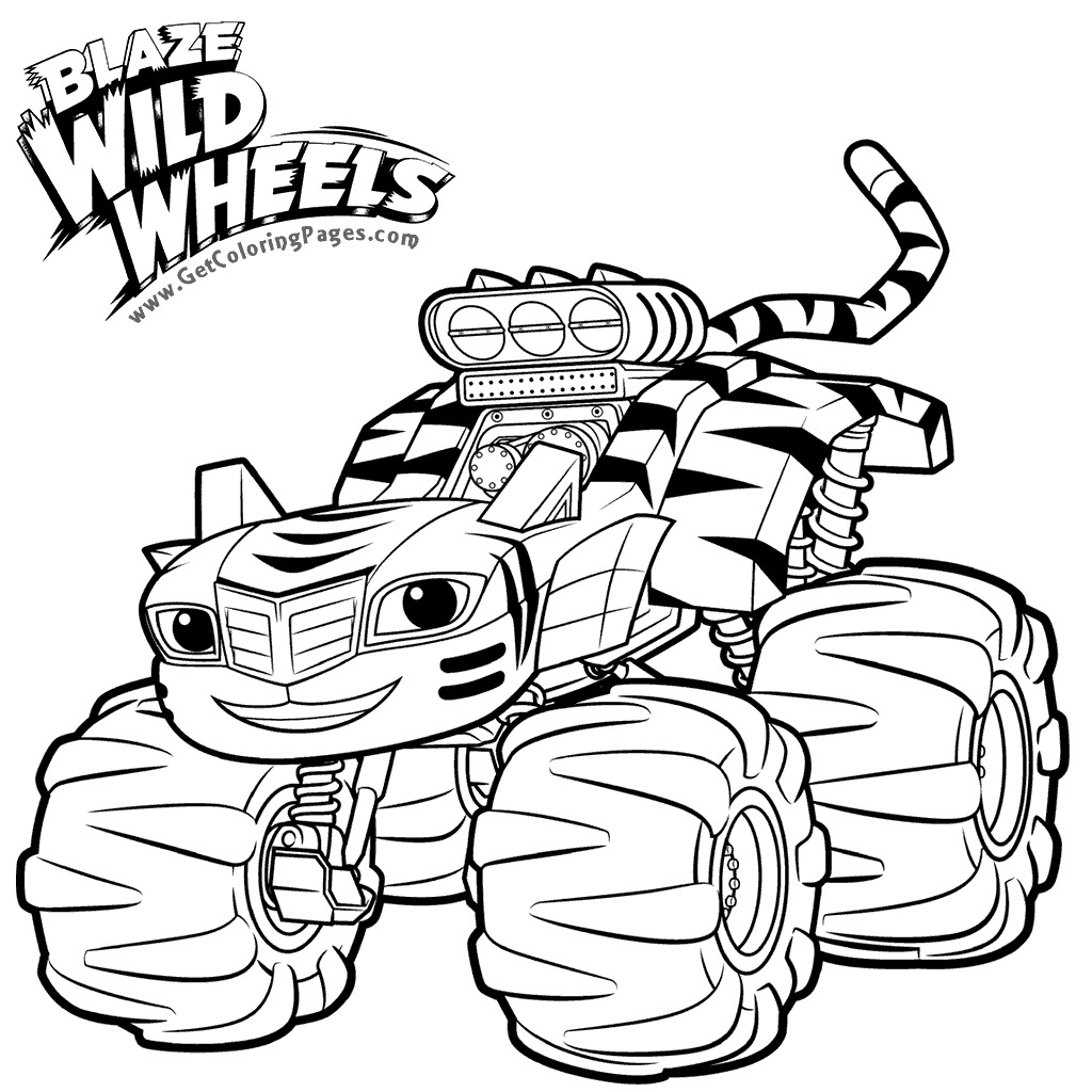 Blaze and the Monster Machine Coloring Pages - Blaze and the Monster Machine Coloring Pages