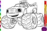 Blaze and the Monster Machines Coloring Pages - Blaze and the Monster Machine Coloring Pages