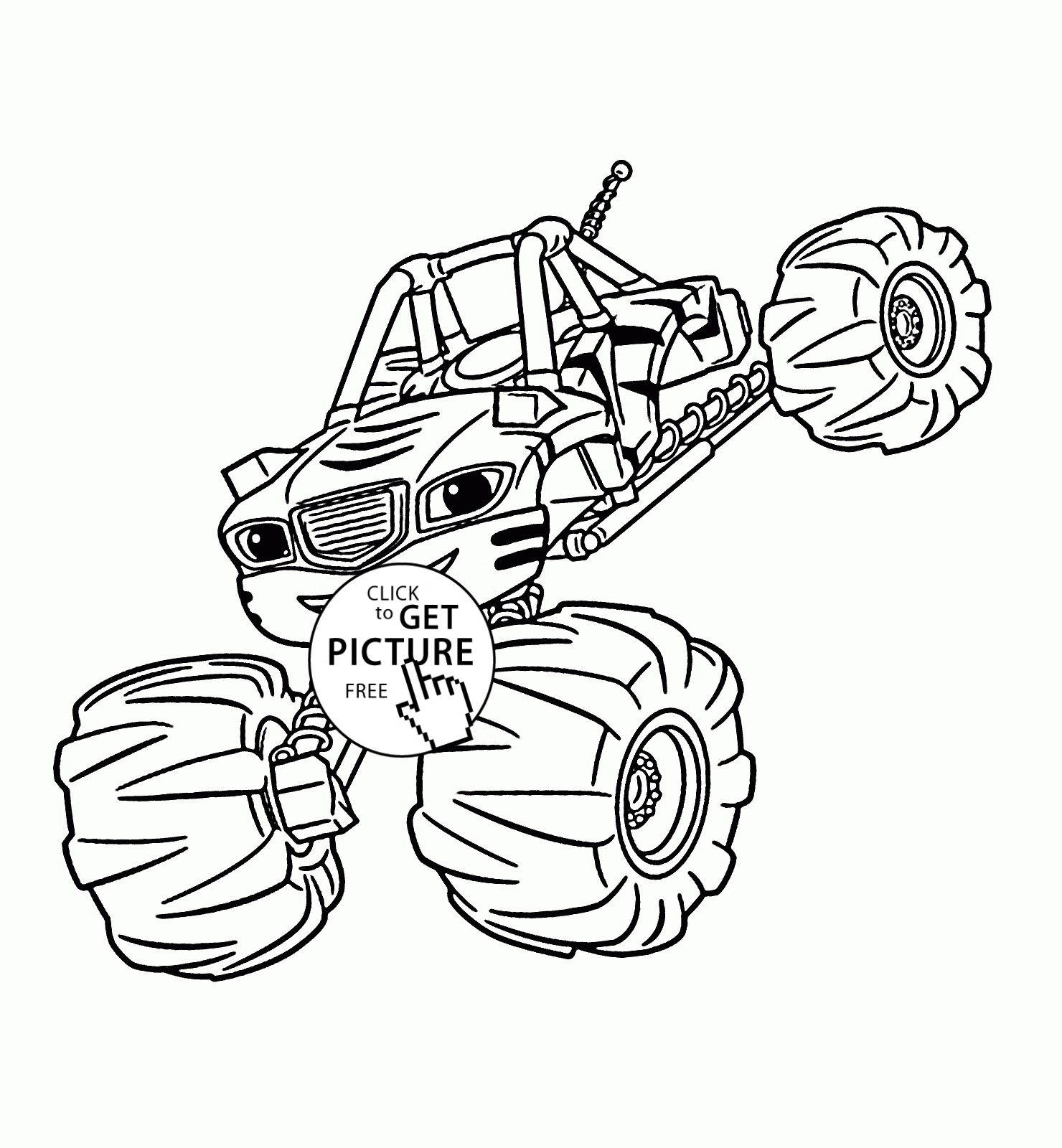 Blaze Coloring Pages to Print  Download 9d - Save it to your computer