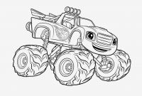 Blaze Coloring Pages to Print - Printable Coloring Pages Monster Trucks