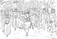 Body Coloring Pages for Preschoolers - King David Dancing before the Ark Of the Covenant Coloring Page
