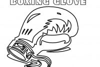 Boxing Gloves Coloring Pages - Mitten Coloring Page