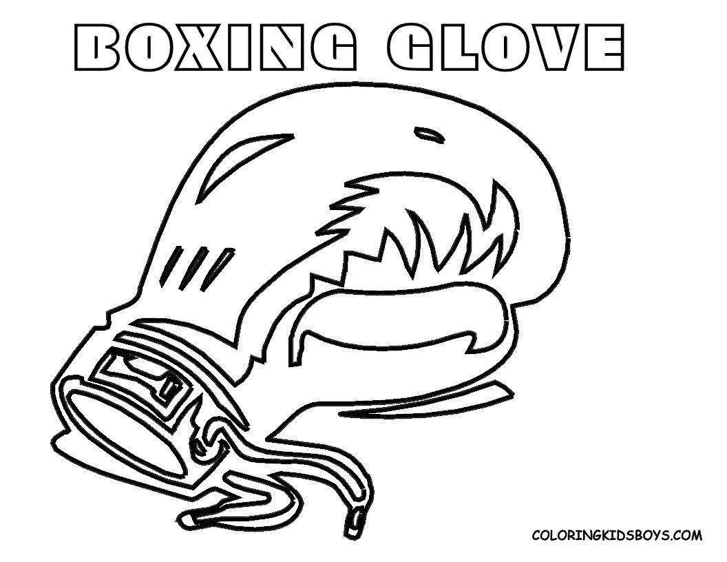 Boxing Gloves Coloring Pages  Download 11p - Save it to your computer