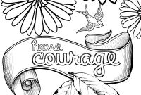 Breast Cancer Coloring Pages - Cinderella Inspired Grown Up Colouring Pages Have Courage and Be