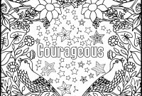 Breast Cancer Coloring Pages - Courageous Positive Word Coloring Book Printable Coloring Book for