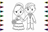 Bride and Groom Coloring Pages - Glitter Time How to Draw Little Bride and Groom Coloring Pages