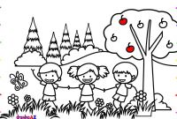 Bride and Groom Coloring Pages - How to Draw Children Playing In the Park