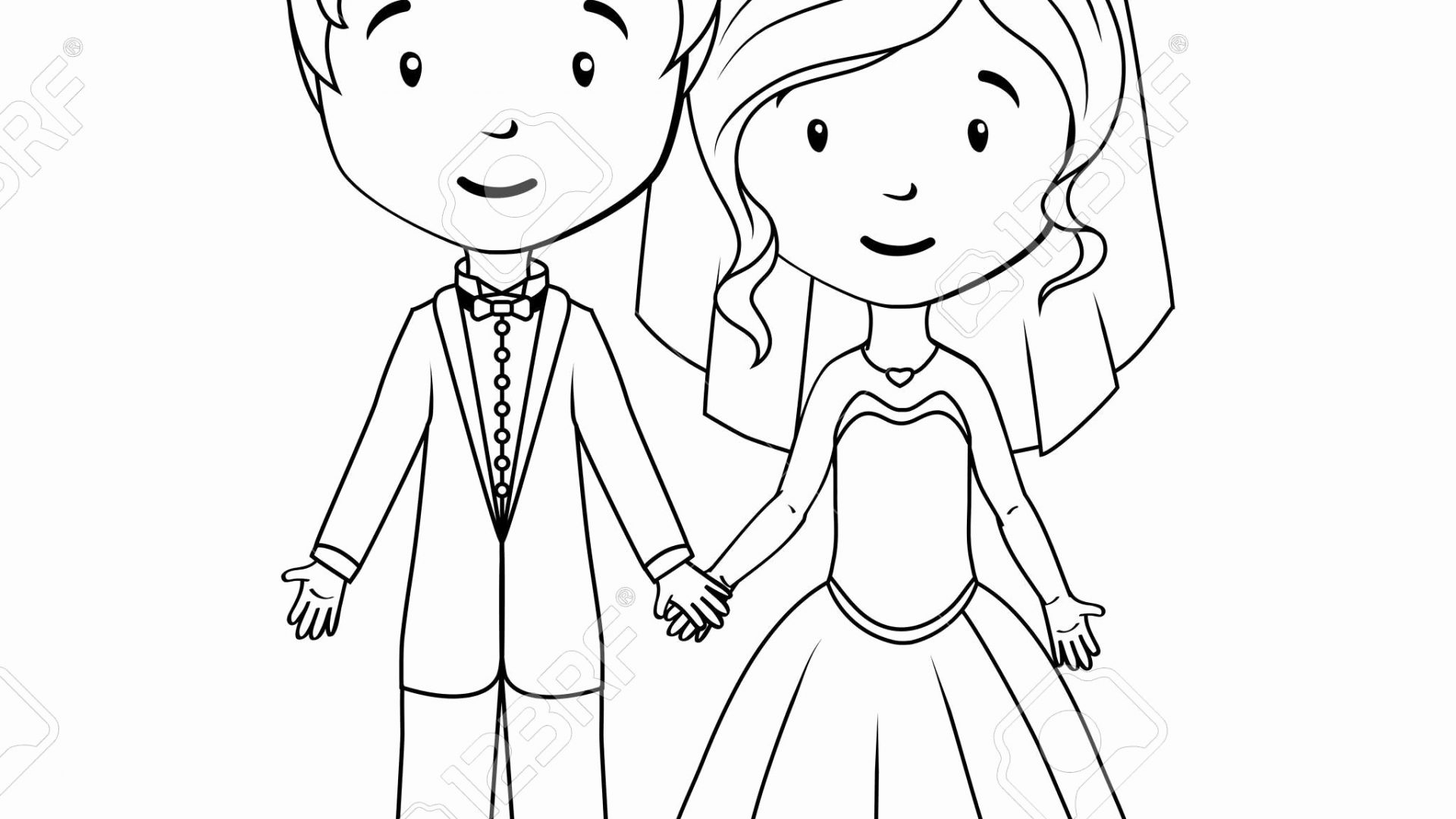 Bride and Groom Coloring Pages  Printable 18c - Free Download