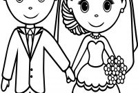 Bride and Groom Coloring Pages - Printable Bride and Groom Coloring Pages Free Wedding Coloring Pages