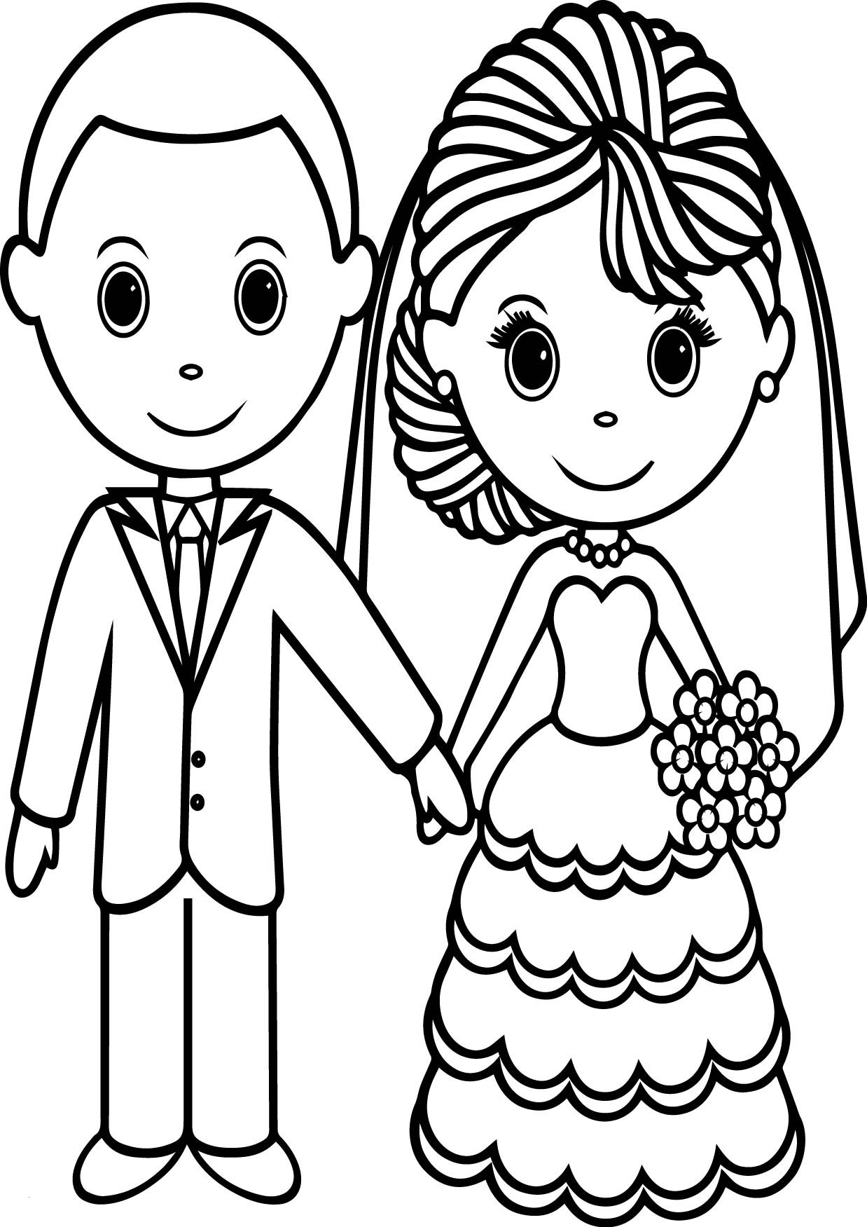 Bride and Groom Coloring Pages  Printable 19i - Free Download