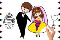 Bride and Groom Coloring Pages - Wedding Bride and Groom Coloring Book