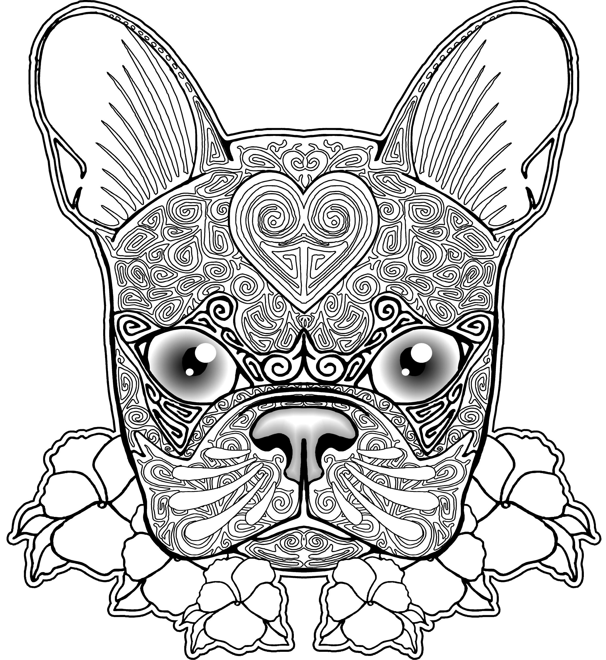 Bulldog Coloring Pages Printable  Gallery 15h - Free Download