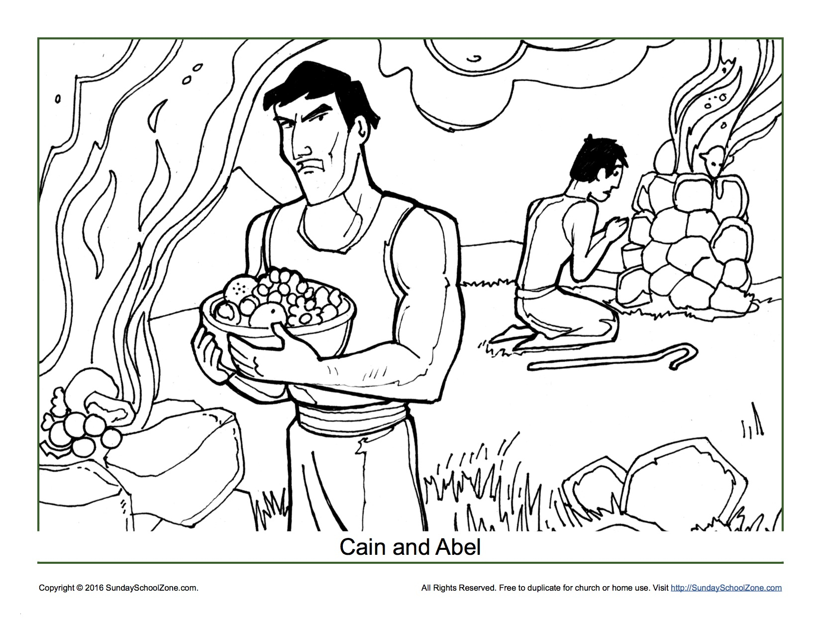Cain and Abel Coloring Pages  to Print 3s - Free For Children