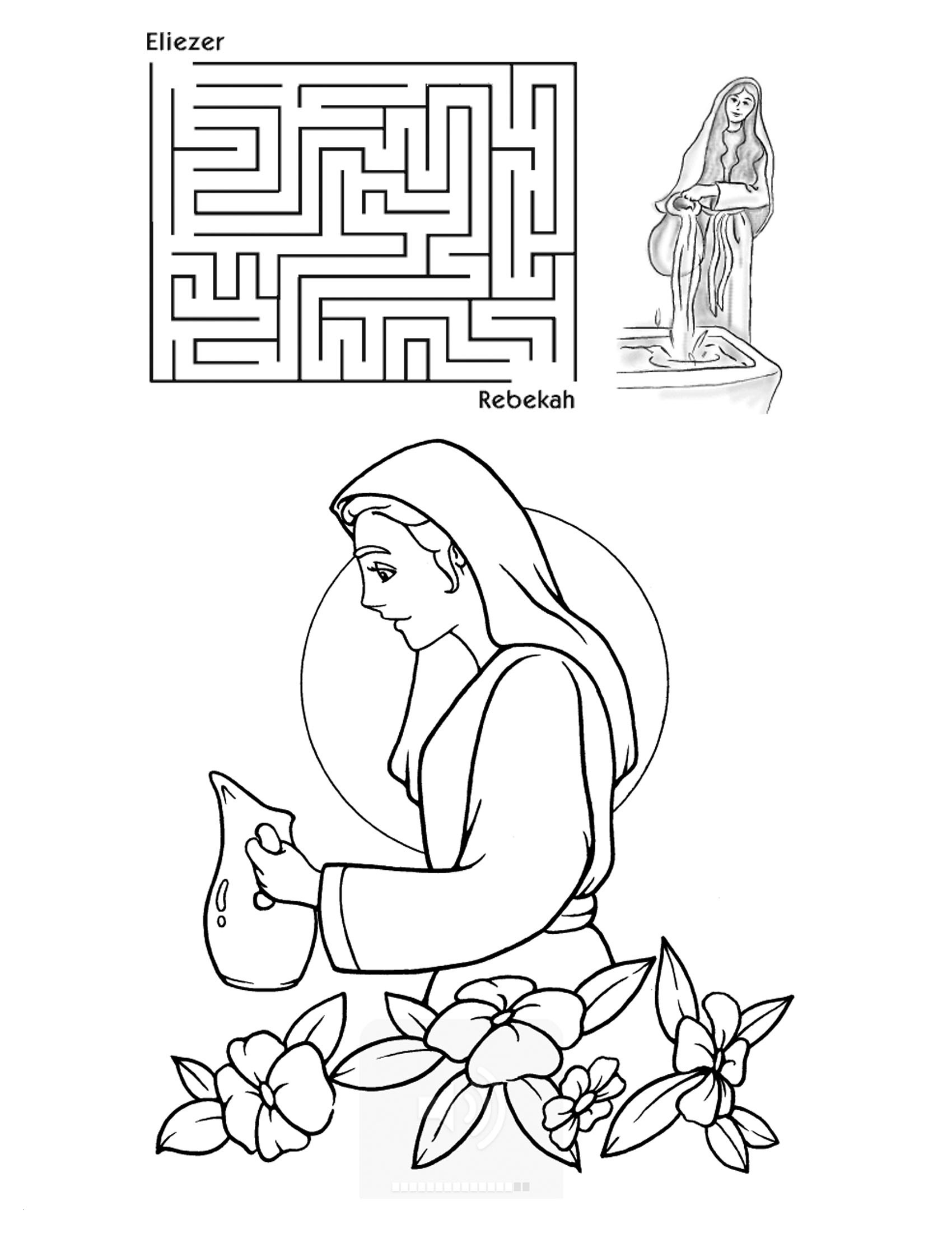 Cain and Abel Coloring Pages  to Print 8m - To print for your project