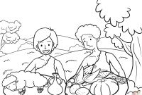 Cain and Abel Coloring Pages - Cain and Abel Coloring Page Cain and Abel Coloring Pages Best Cain