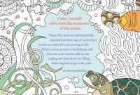 Calm the F Down Coloring Book Pages - Color Me Mindful Underwater Book by Anastasia Catris