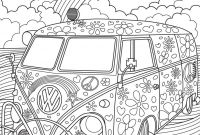 Calm the F Down Coloring Book Pages - Vw Kombi Coloringpage