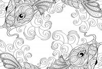 Calm the F Down Coloring Book Pages - Yin and Yang Pieces Symbol Fish Coloring Page for Adults
