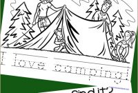 Camping Coloring Pages to Print - Camping Archives 1 1 1=1