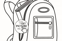Camping Coloring Pages to Print - Camping Coloring Pages for Kids Best Backpack Coloring Page 1782—2292