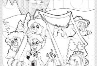 Camping Coloring Pages to Print - Girl Scout Camping Coloring Pages Download Best Unique Girl
