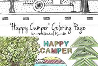 Camping Coloring Pages to Print - Happy Camper Coloring Page U Create
