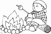 Camping Coloring Pages to Print - Tent Coloring Page