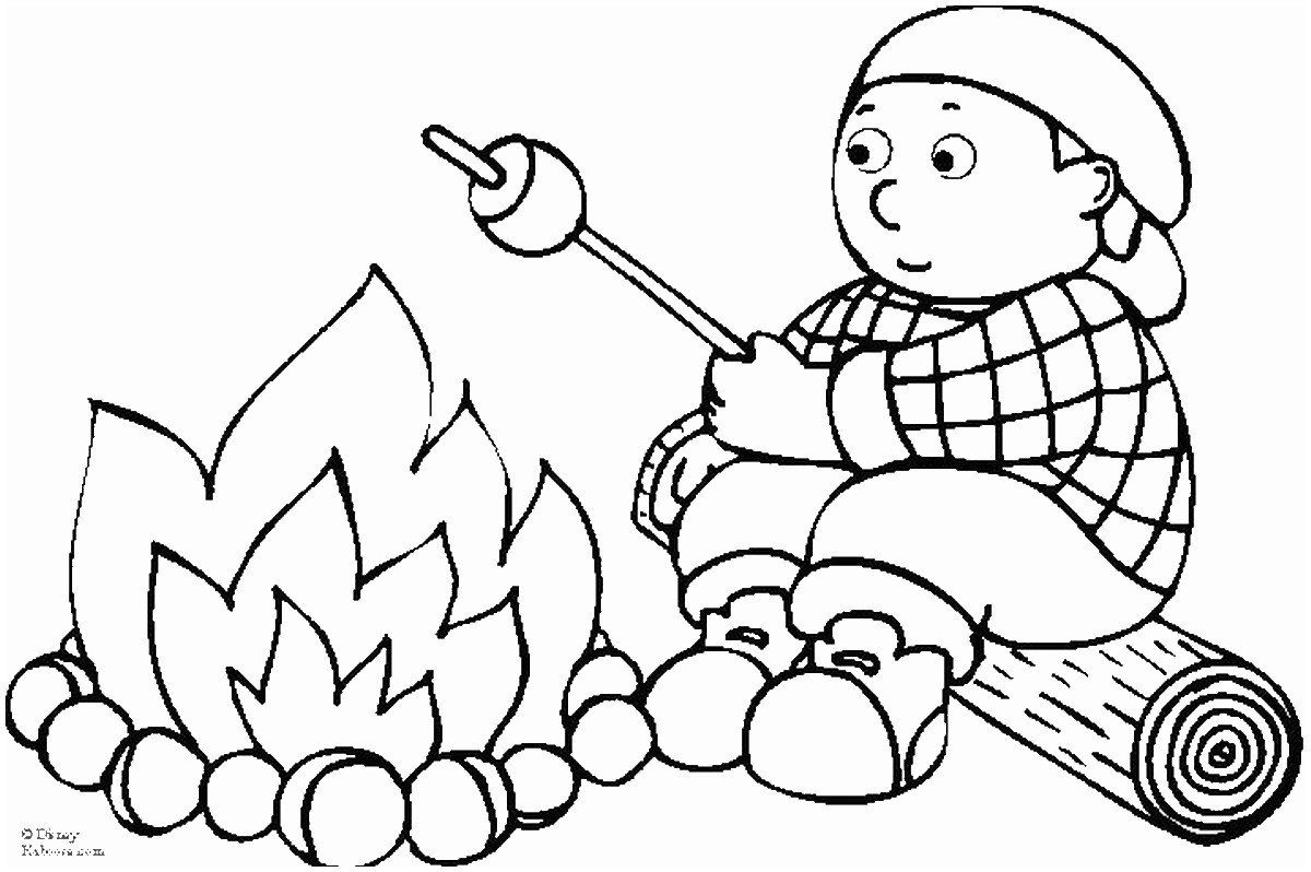 Camping Coloring Pages to Print  Printable 5e - Free For Children