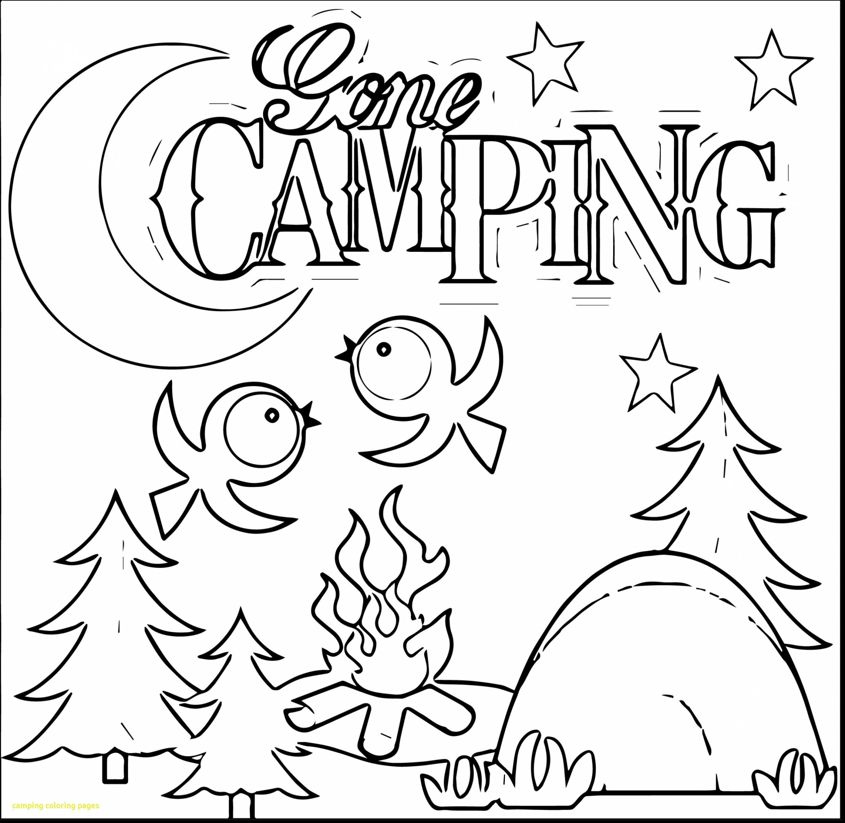Camping Coloring Pages to Print  Printable 18i - Free For Children