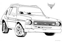 Cars 2 Coloring Pages - Professor Z Coloring Page