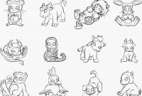 Cartoon Monkey Coloring Pages - Baby Monkeys Coloring Pages Lovely Cute Cartoon Monkey Coloring