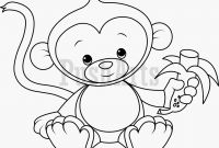 Cartoon Monkey Coloring Pages - Baby Monkeys Coloring Pages Monkey Drawing Cute at Getdrawings