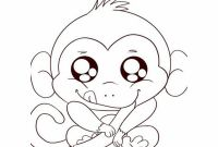 Cartoon Monkey Coloring Pages - Free Printable Monkey Coloring Pages for Kids