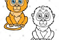 Cartoon Monkey Coloring Pages - Funny Monkey Vector Illustration Coloring Page Of Happy Cartoon