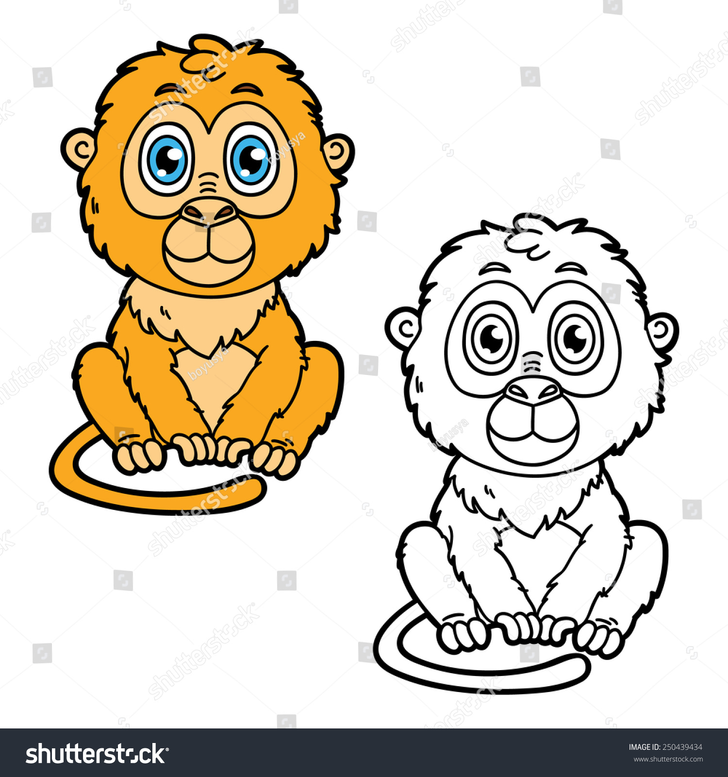Cartoon Monkey Coloring Pages  Gallery 13a - To print for your project